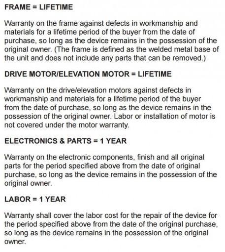 horizon t101 treadmill assembly warranty
