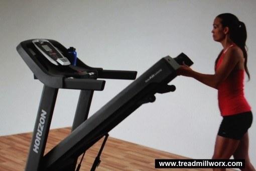 horizon t101 treadmill folding step 2