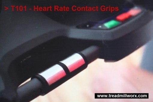 horizon treadmill t101 contact grips